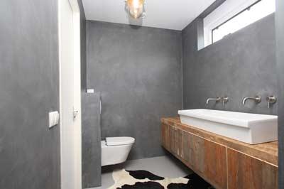 Beton Ciré in de badkamer