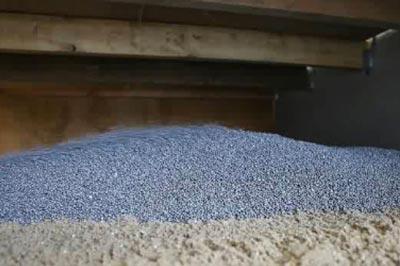 Voorbeeld van EPS parels als bodemisolatie